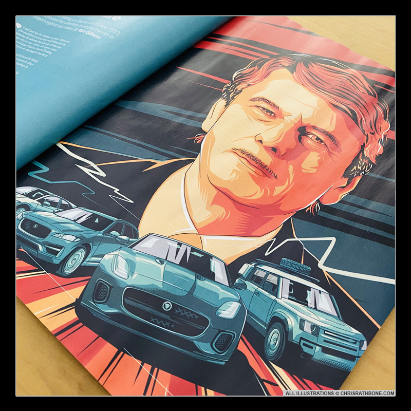 CAR Magazine Mercedes Benz illustrations by Chris Rathbone