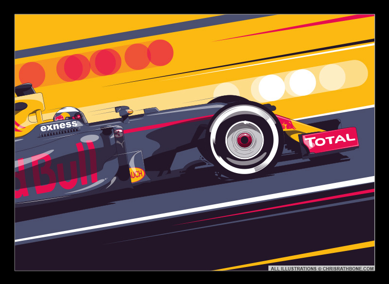 Daniel Ricciardo illustration by Chris Rathbone
