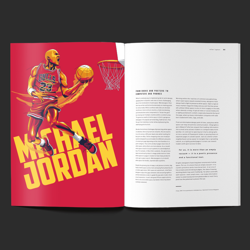Michael Jordan Illustration by Chris Rathbone