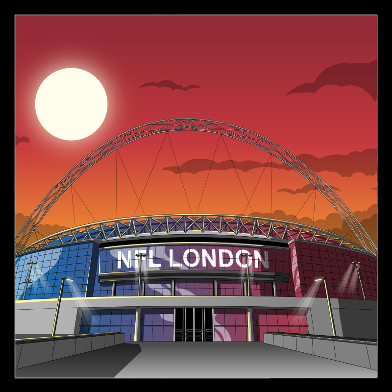Wembley Stadium illustrations by Chris Rathbone