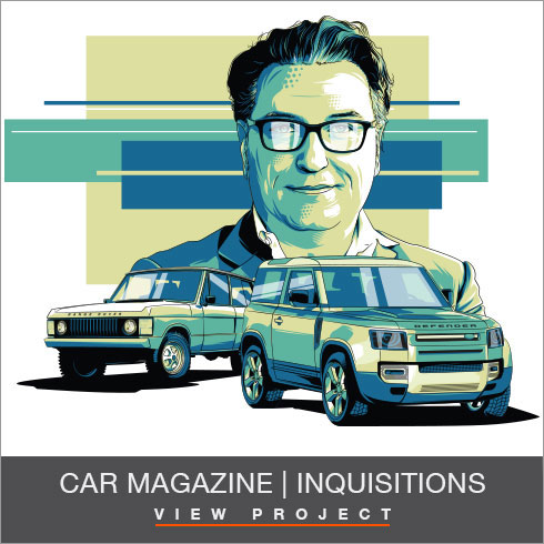 Car Magazine Inquisition Illustrations by Chris Rathbone