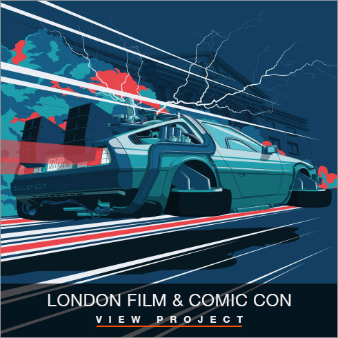 London Film & Comic Con Illustrations by Chris Rathbone