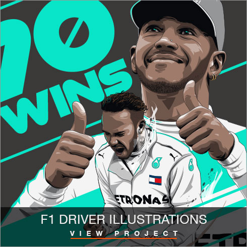 F1 illustrations by Chris Rathbone