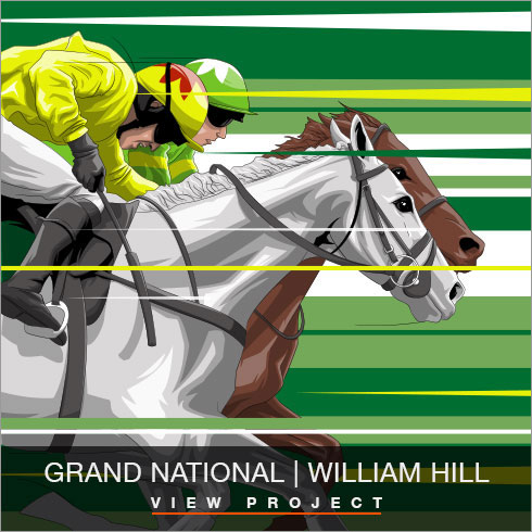 William Hill Grand National illustrations by Chris Rathbone