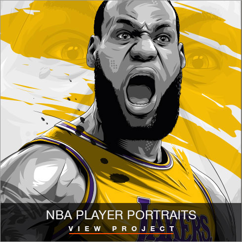 NBA Player illustrations by Chris Rathbone