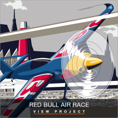 Red Bull Air Race illustrations by Chris Rathbone
