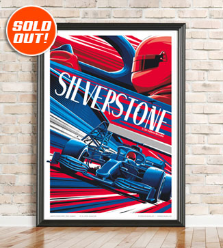 F1 Poster illustration Silverstone 2021 print by Chris Rathbone
