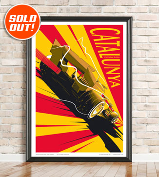 F1 Poster illustration Spain 2021 print by Chris Rathbone