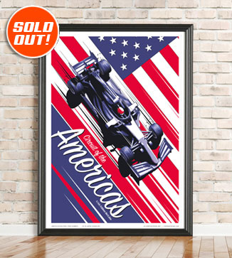 F1 Poster illustration USA 2021 print by Chris Rathbone