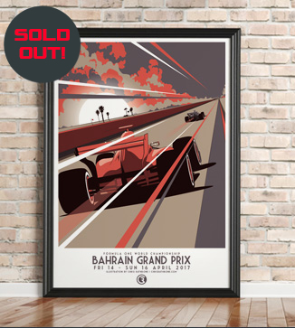 Bahrain F1 Race poster by Chris Rathbone