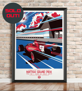 Canadian GP Race Poster by Chris Rathbone